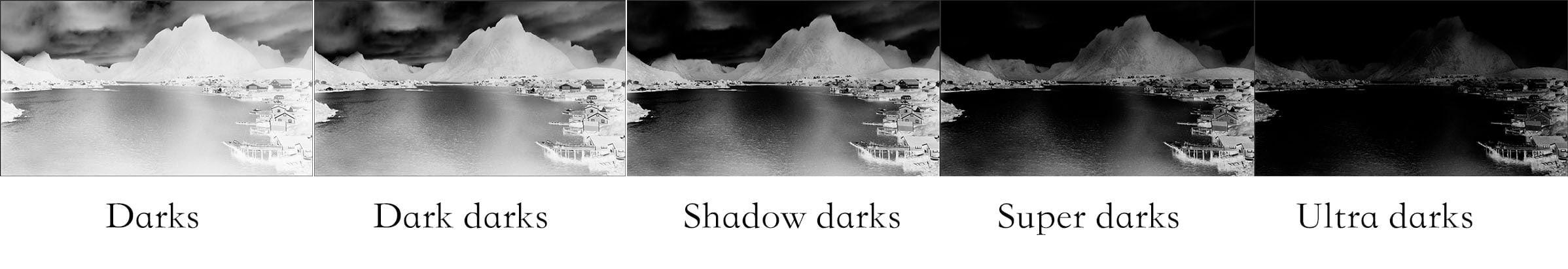 Masques des tons sombres